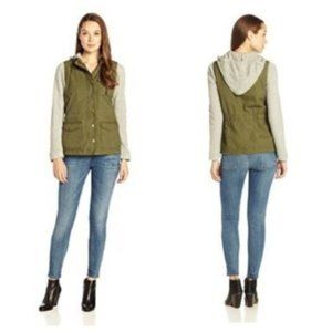 Lucky Brand French Terry Military Jacket, XS
